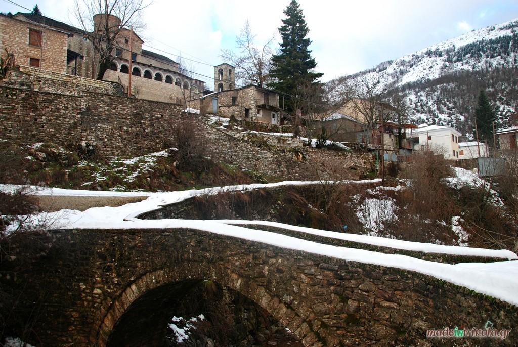 Το Χαλίκι χιονισμένο, ένα από τα χωριά του Ασπροποτάμου