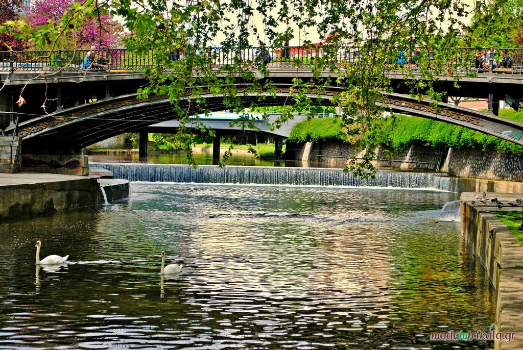 Ποταμός Ληθαίος Τρίκαλα, Κεντρική Γέφυρα Τρικάλων
