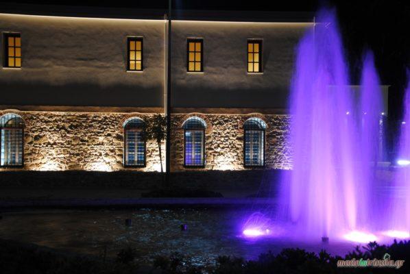 Μουσείο Τσιτσάνη Τρίκαλα, το εξωτερικό σιντριβάνι