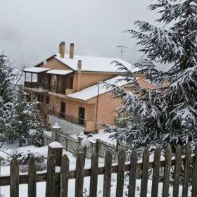 Αρχοντικό Χριστουδούλου Ελάτη, χειμώνας