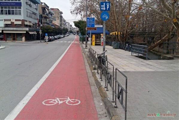 Τρίκαλα, ποδηλατόδρομος