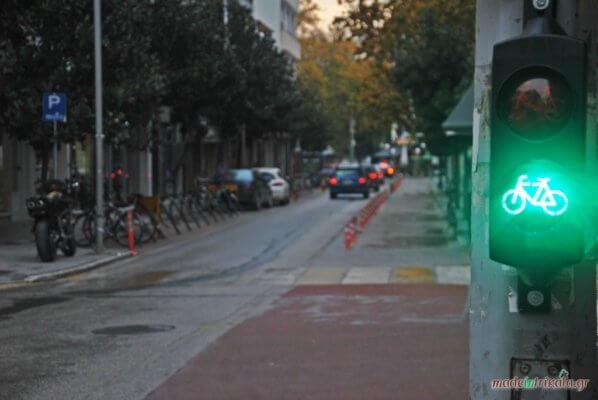 Τρίκαλα, φανάρι του ΚΟΚ για ποδήλατα