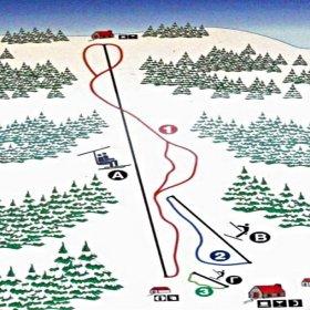 Ελάτη, Περτούλι, χιονοδρομικό κέντρο περτουλίου, χάρτης πιστών