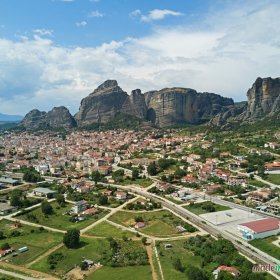 Kalabaka Meteora panoramic view