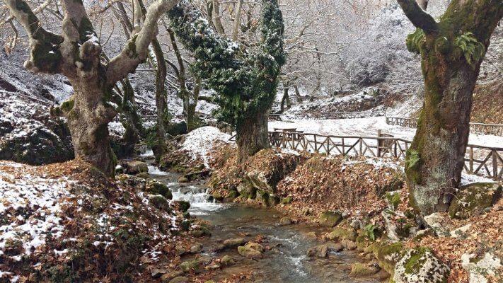 Κόρη Τρικάλων, ο Κεφαλοπόταμος χιονισμένος