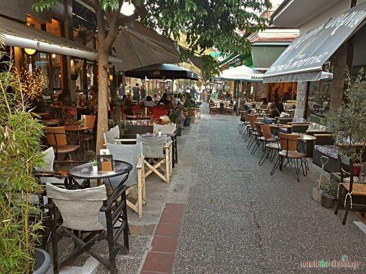 Μανάβικα Τρίκαλα, πεζόδρομος με καφετέριες