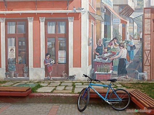 Μανάβικα Τρικάλων, τοιχογραφία