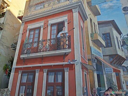 Μανάβικα Τρικάλων, τοιχογραφία Τσιτσάνη