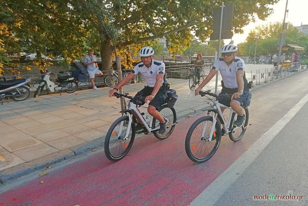 Αστυνομικοί με ποδήλατα στα Τρίκαλα